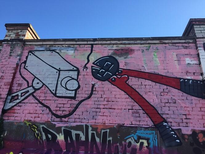 Graffiti Kamera Taxi Thalkirchen